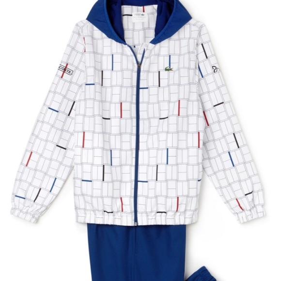 476f19400 Lacoste Jackets & Coats | Sport Print Tracksuit Novak Djokovic ...